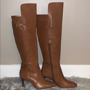 NEW Ralph Lauren heeled leather boots
